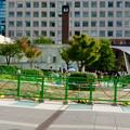 オアシス21周辺で行われていた工事(2018年9月23日) - 2