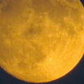 愛知大学の校舎の間から見えた昇ったばかりの満月(2018年9月23日) - 4