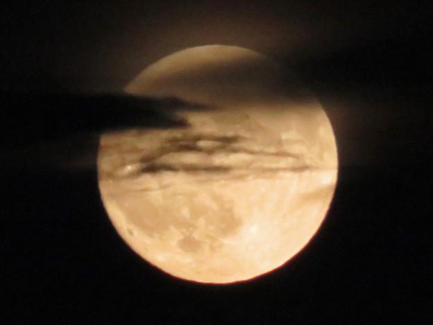 雲の隙間から顔をのぞかせてた中秋の満月(2018年9月24日) - 13
