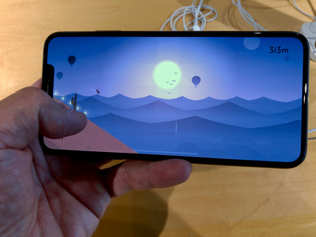 iPhone XS Max No - 7:ゲームをランドスケープモードで表示
