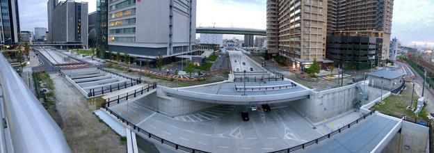 ささしまライブ24:笹島線と椿町線の交差部分周辺 - 18(パノラマ)