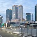 ささしま米野歩道橋渡った対岸から見た名駅ビル群 - 1