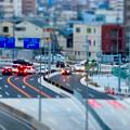 Photos: SX730 HS ミニチュアライズ:ささしま米野歩道橋から撮影した交差点 - 2