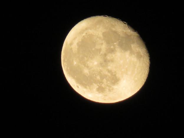 雲が晴れてくっきり見えた今日の満月(2018年9月27日) - 1