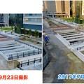 ささしまライブ24:建設中と開通後の笹島線と椿町線の交差点付近の道路 - 1