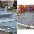 ささしまライブ24:建設中と開通後の笹島線と椿町線の交差点付近の道路 - 8