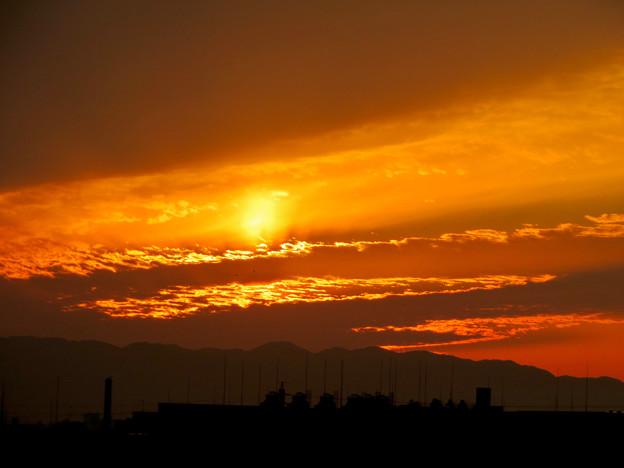県営岩崎住宅から見た夕焼け - 1
