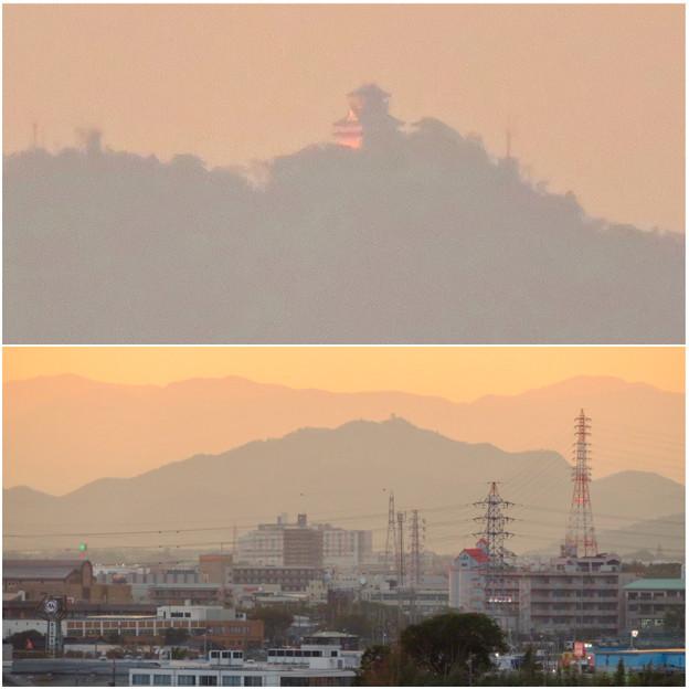 県営岩崎住宅から見た夕暮れ時の岐阜城・金華山 - 12