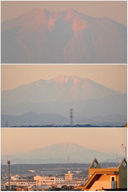 県営岩崎住宅から見た夕暮れ時の御嶽山 - 14