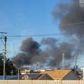 Photos: 東名高速走行中の高速バスから撮影した国盛化学の火事 - 33