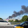 Photos: 東名高速走行中の高速バスから撮影した国盛化学の火事 - 43