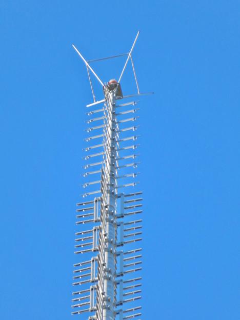 真下から見上げた名古屋テレビ塔頭頂部 - 3