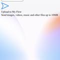 写真: Opera Touch:接続失敗時(?)に出た通知に「10MBまでファイルアップロード可能」と言う表記? - 1