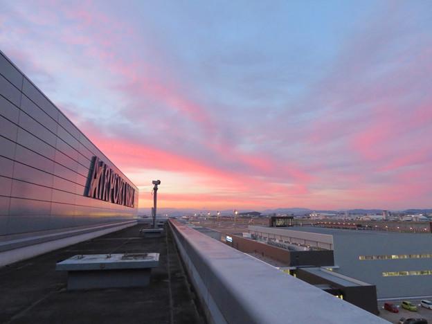 エアポートウォーク名古屋 No - 1:スカイデッキから見えた綺麗な夕焼け