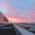 写真: エアポートウォーク名古屋 No - 1:スカイデッキから見えた綺麗な夕焼け