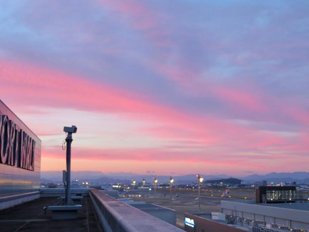 エアポートウォーク名古屋 No - 2:スカイデッキから見えた綺麗な夕焼け