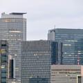 桜通に架かる歩道橋の上から見た名駅ビル群 - 2