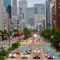 写真: 桜通に架かる歩道橋の上から見た名駅ビル群 - 3