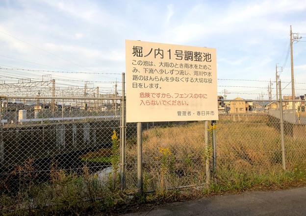 JR中央線横の堀ノ内1号調整池 - 2