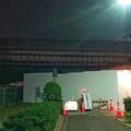 桃花台線の桃花台東駅横高架撤去工事(2018年10月23日) - 1