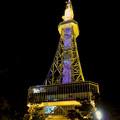 Photos: 真下から見上げた夜の名古屋テレビ塔のエレベーター - 1