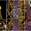 Photos: 真下から見上げた夜の名古屋テレビ塔のエレベーター - 5