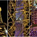 Photos: 真下から見上げた夜の名古屋テレビ塔のエレベーター - 6