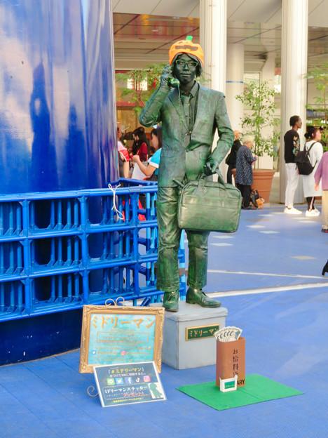 NAGOYA大道芸フェスティバル 2018 - 8:彫像の様に静止してた大道芸人の方(スタチュー)