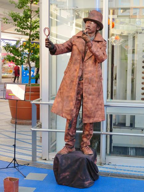 NAGOYA大道芸フェスティバル 2018 - 10:彫像の様に静止してた大道芸人の方(スタチュー)