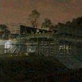 桃花台線の桃花台中央公園南側高架撤去工事(2018年11月5日):撤去予定の高架に足場の設置開始 - 4