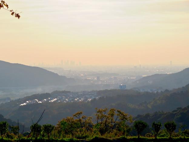 定光寺展望台から見た景色 - 1:名古屋方面