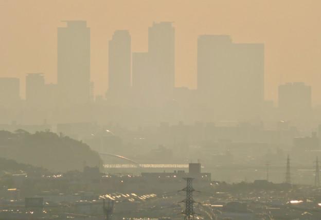 定光寺展望台から見た景色 - 9:名駅ビル群