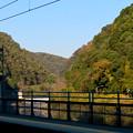 定光寺駅ホームから見た周辺の山々の紅葉 - 2
