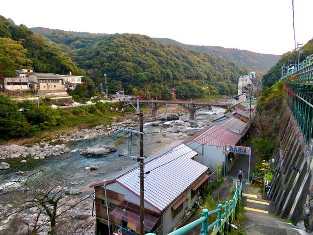 定光寺駅ホームから降りる階段から見た庄内川 - 6