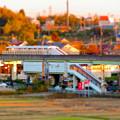 Photos: フレッシュパークの展望台から見た旧・桃花台線 上末駅 - 3(ミニチュアライズ)
