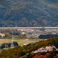 写真: 定光寺展望台から見た景色:愛知環状鉄道の高架 - 1