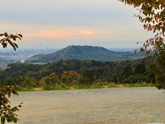 定光寺展望台から見た景色:自衛隊の訓練施設(?)がある高座山 - 1