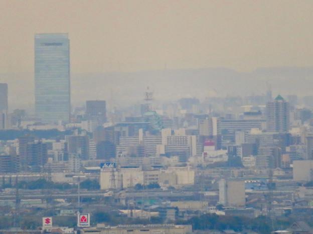 定光寺展望台から見た景色:名古屋城 - 4