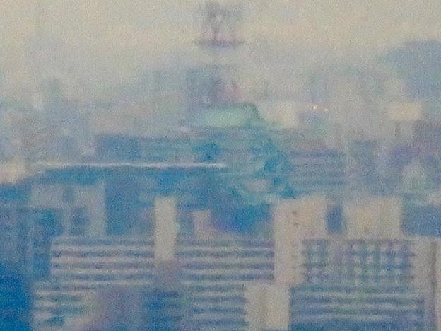 定光寺展望台から見た景色:名古屋城 - 8