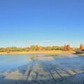Photos: 水抜き(池干し)された落合公園の池(2018年11月) - 16:パノラマ