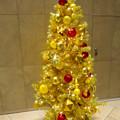 写真: 大名古屋ビルヂング内のクリスマスデコレーション 2018 No - 9:1階入り口の黄色いクリスマスツリー