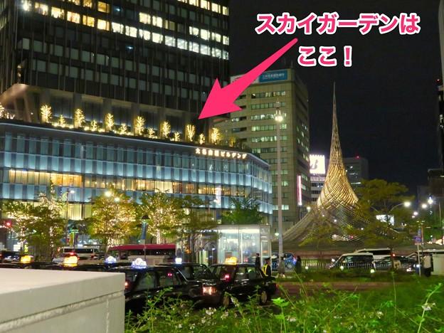 写真: 大名古屋ビルヂング「スカイガーデン」の場所