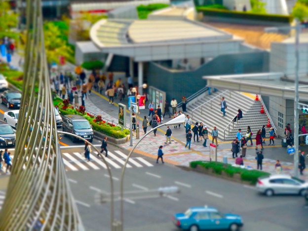 大名古屋ビルヂング5階「スカイガーデン」から見た景色 - 5:名駅通(ミニチュアライズ)