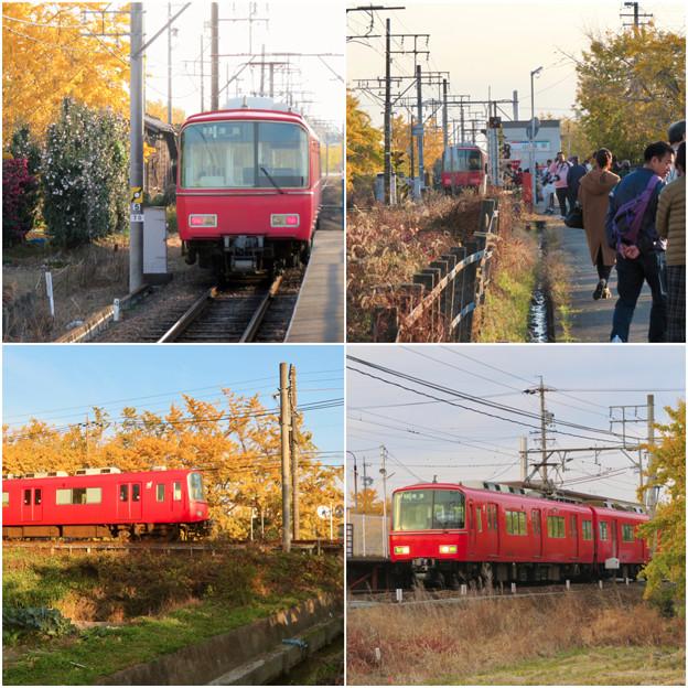 名鉄尾西線 山崎駅周辺の黄葉 - 1