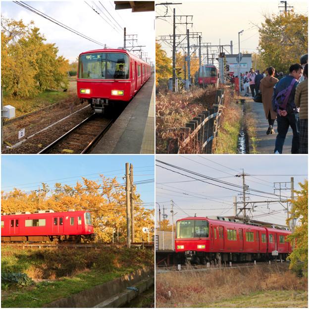 名鉄尾西線 山崎駅周辺の黄葉 - 3