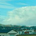 あの雲の下で雪降ってるのかな?と思った、名鉄小牧線車内から見えた分厚い雪 - 3