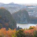 寂光院の展望台から見た景色 - 3:鵜沼城跡