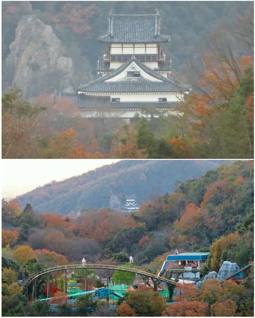 寂光院の展望台から見た景色 - 29:犬山城