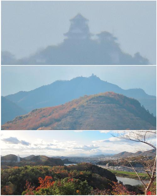 寂光院の展望台から見た景色 - 30:金華山と岐阜城
