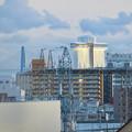 ららぽーと名古屋みなとアクルス駐車場から見た景色 - 4:名港東大橋とポートビル